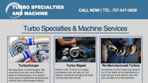Turbocharger, Turbo repair, Re-manufacture turbos, OEM turbo chargers