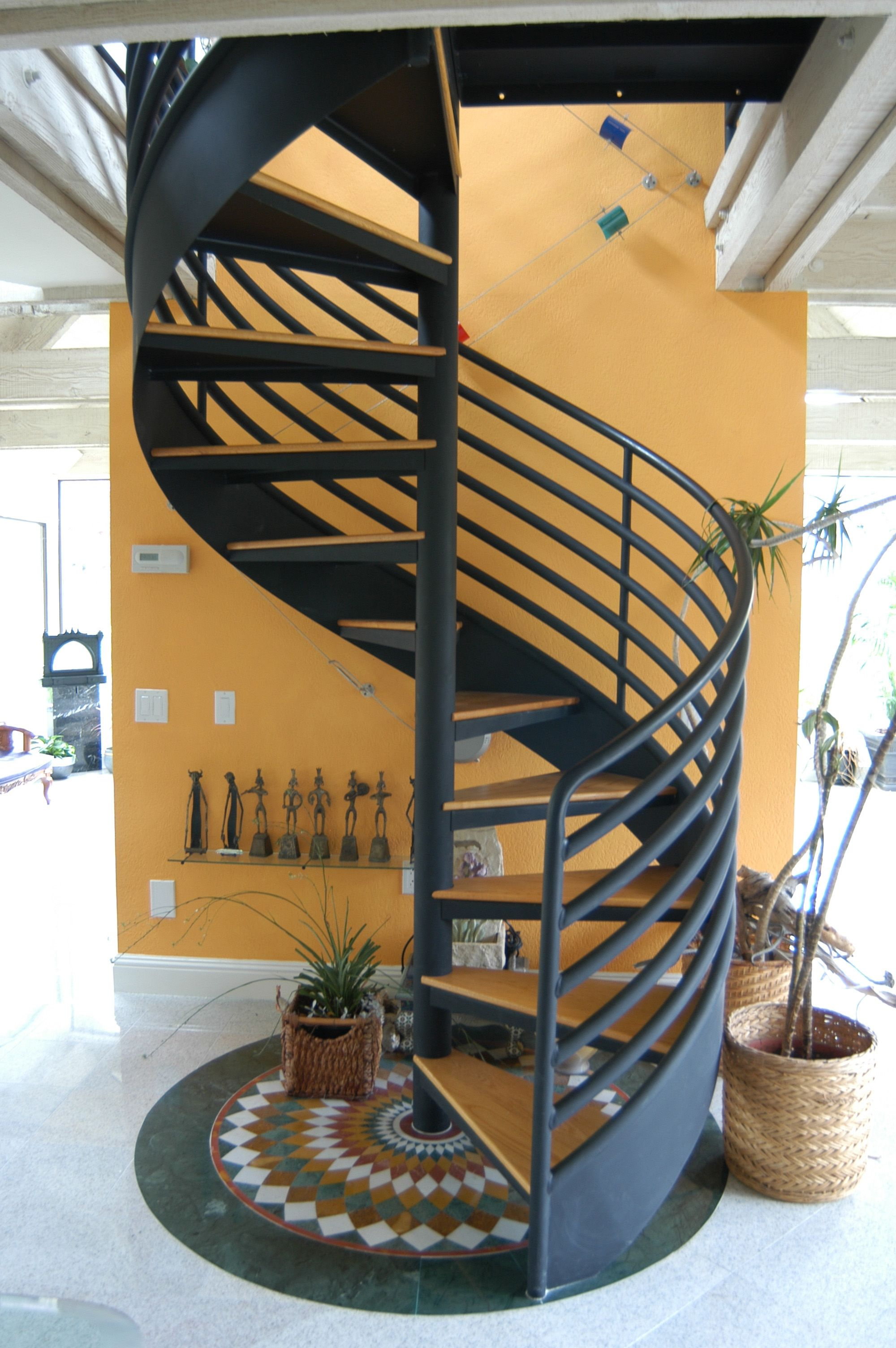 all welded spiral stairs