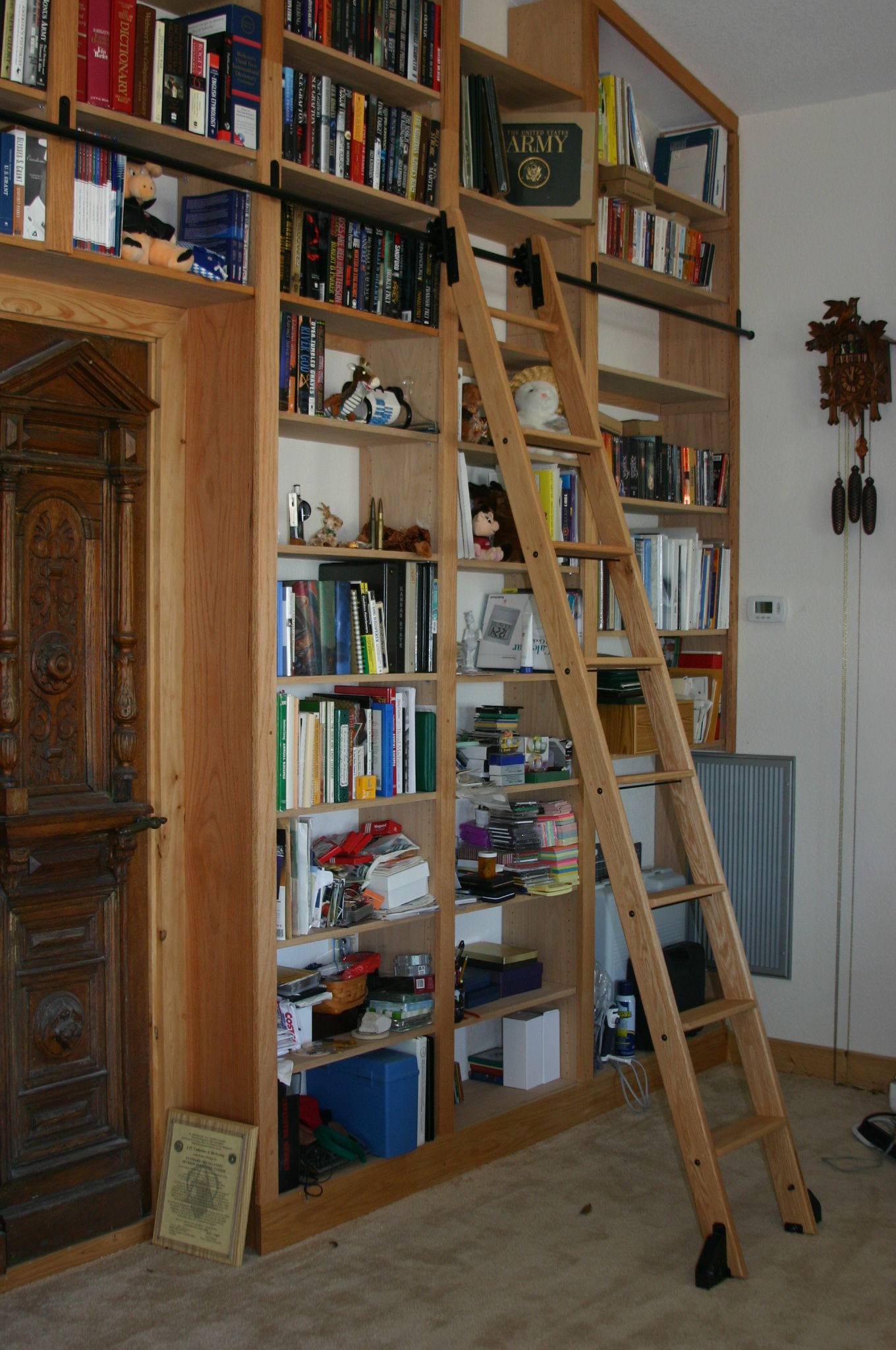 rolling library ladders wood or steel