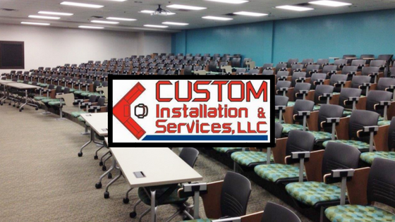 Office Furniture Installation, Floor to Ceiling Wall Installation, Furniture Warehousing Receiving, Office Furniture Delivery, Classroom Seating Installation, Project Management Services