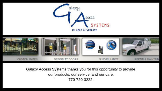 Access Control Gate Access Control Sound Systems, commercial fencing, commercial gates, commercial access control Fence Building, Vehicle Access Control, Galaxy Gate Systems