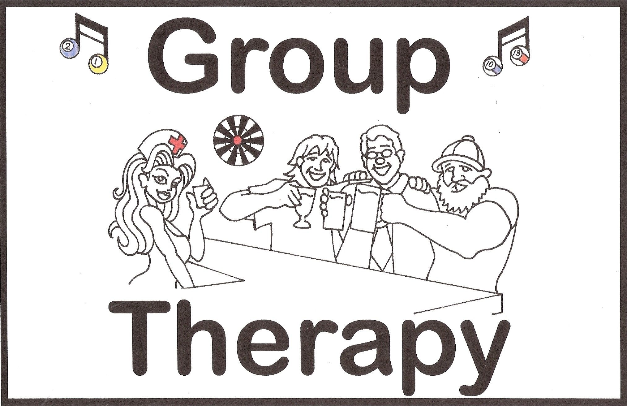 Book your party here at Group Therapy