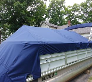 Industrial Sewing, Upholstery, Boat Covers, Pontoon Covers, Bimini Tops, Heavy Equipment Covers, Enclosures, Custom Designs, Boat Cover Repairs, Morning Covers, Shore Power Marine Electrical Wraps, Seat Covers