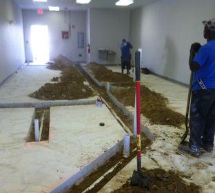 plumbers working hard