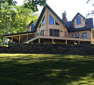 Custom Cedar Log Homes, Adirondack Style Style Homes, Cabins